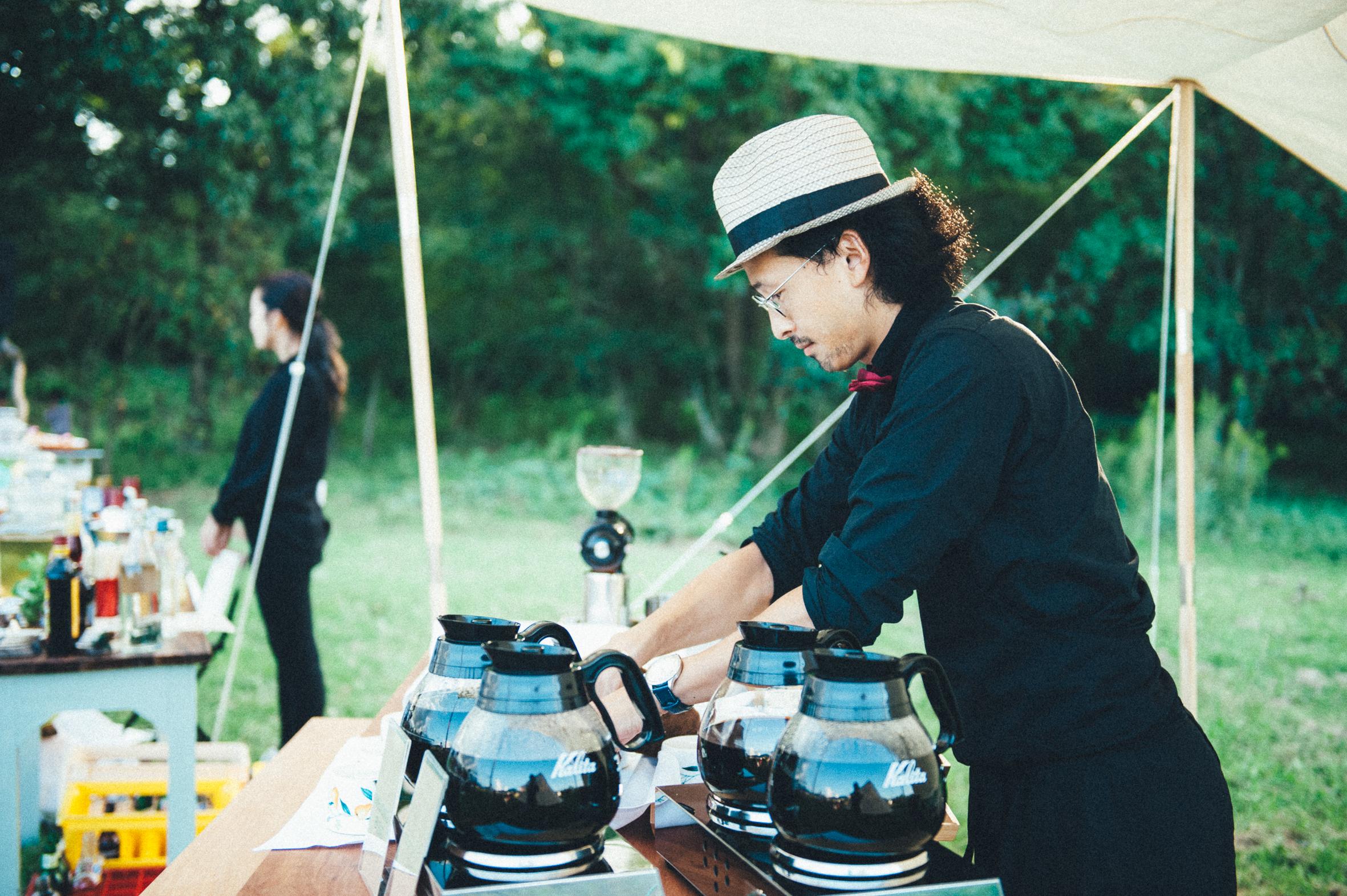 出張コーヒー事例<森のウエディングパーティー>